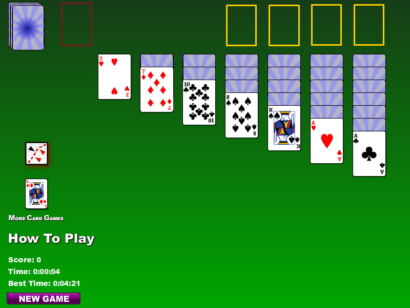 Free Klondike Solitaire card game for the PC.